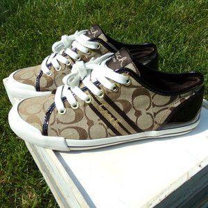 Coach Folly Signature Jacquard Sneakers Size 8